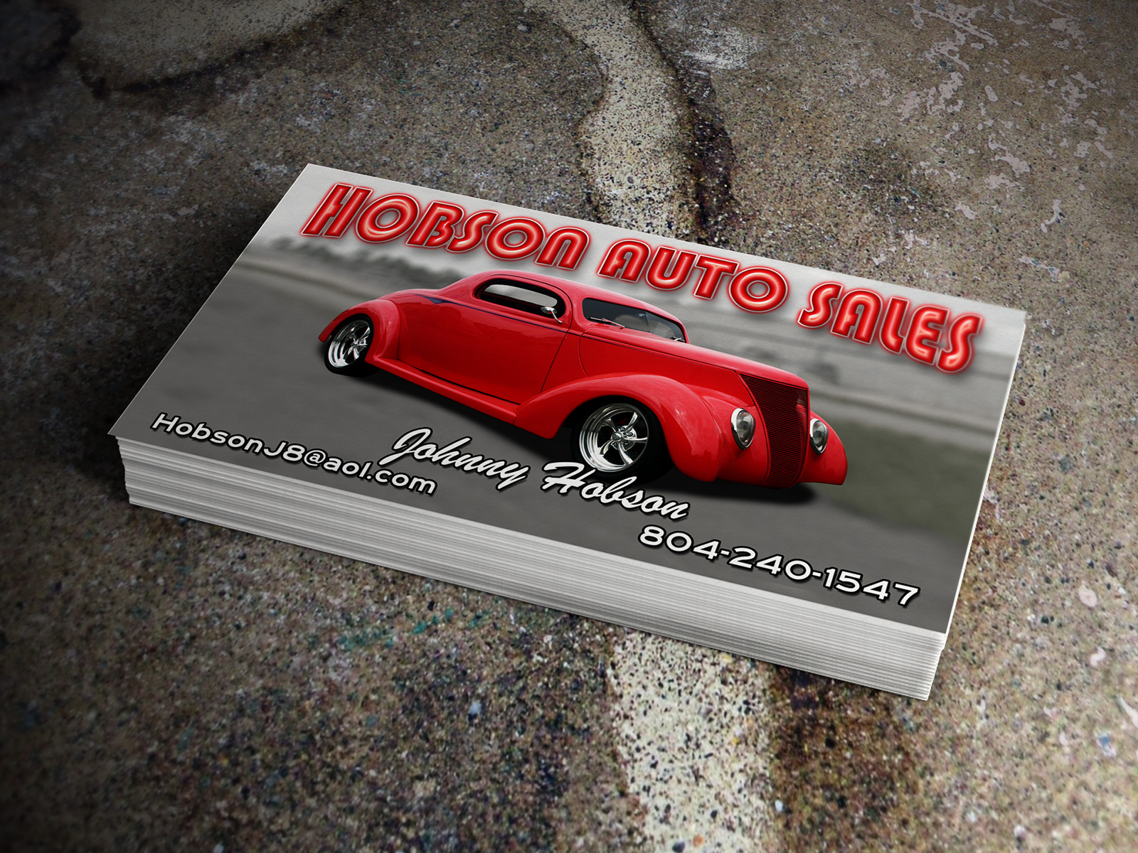 Hobson auto sales business cards logo advantage hobson auto sales business cards colourmoves
