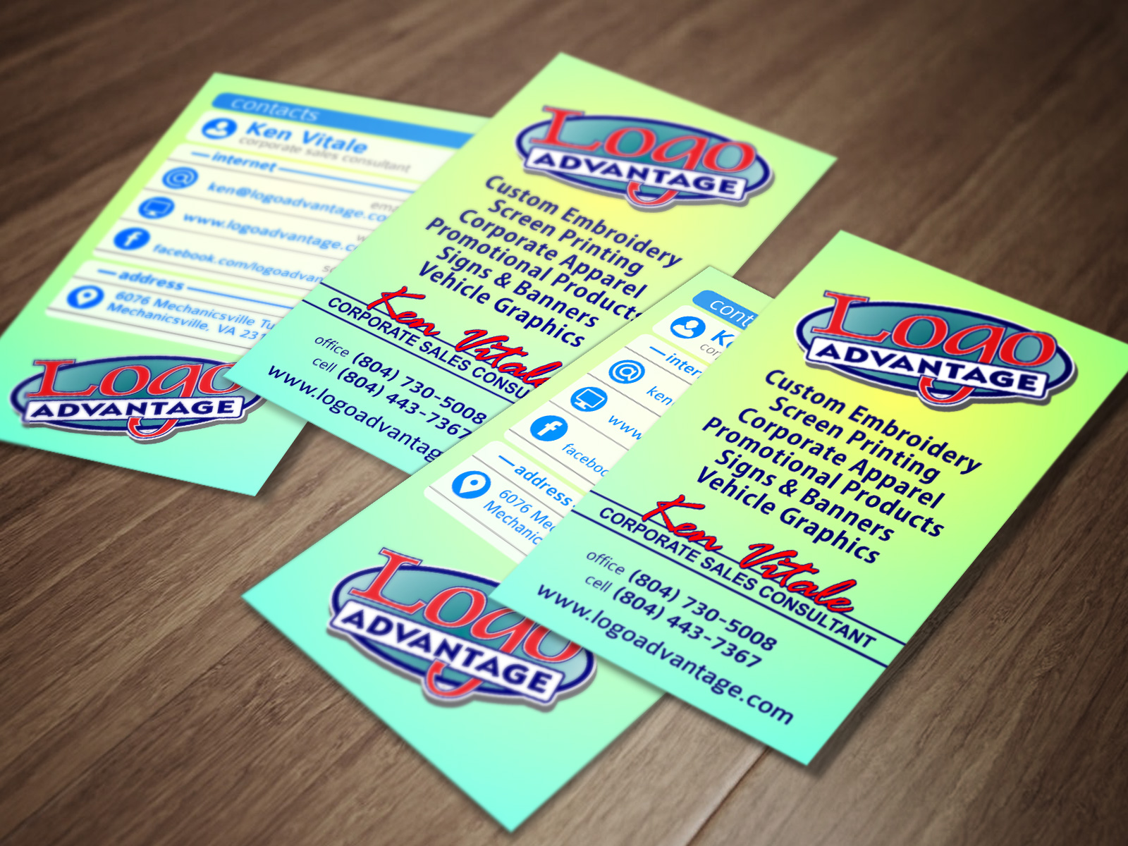 Lakeview Western Wear Business Cards - Logo Advantage